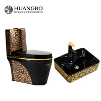 Factory direct supply bulgaria washdown Ceramic toilet siphonic Gold color Toilets chinese One Piece Toilets bathroom set