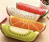 Creative Kawaii School Office Student Gift Stationery Leather Fruit Food Pencil Case
