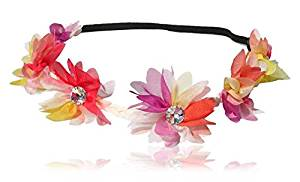 Flower Headband, Hippie Love, Flower Garland, Crown, Festival, Wedding, Hair Wreath, Boho Floral Headband