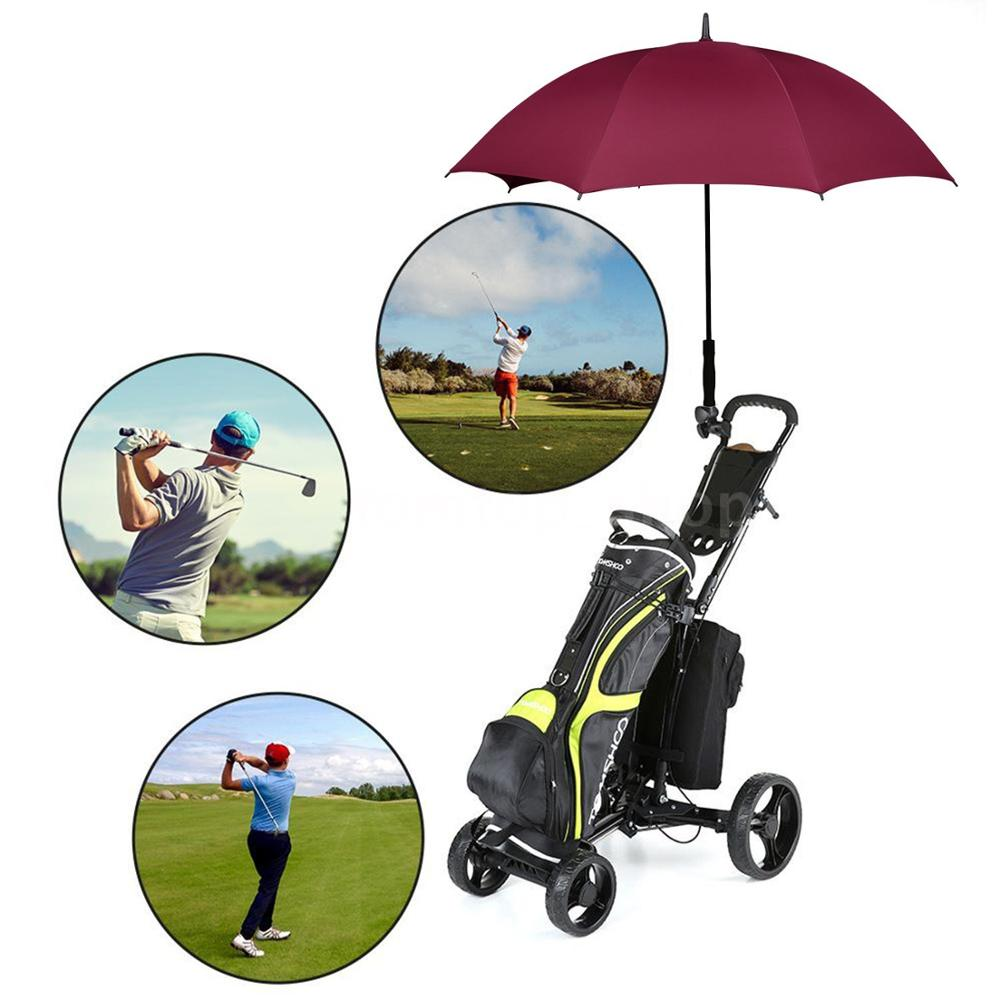 Sun Protection Ultra Rain & Wind Resistant Stick Double Canopy Vented Automatic Golf Umbrellas