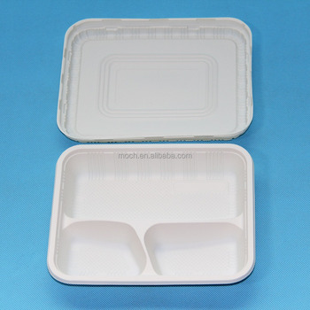 3 Compartment Plastic Dinner Plates Party Home Food Disposable ...