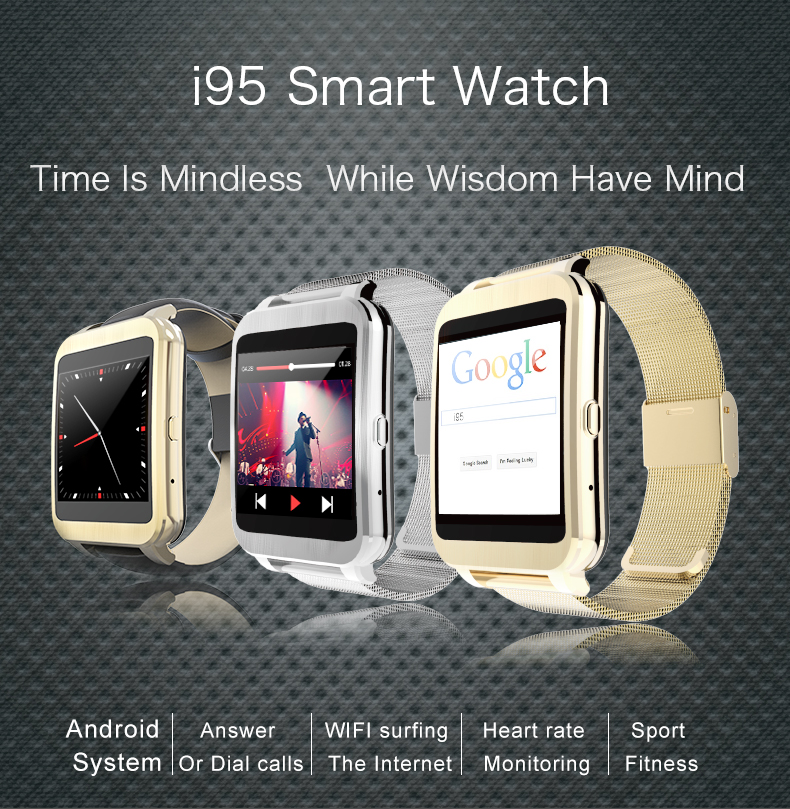 I95 4G Memory Android Recording wristwatch Men's Favorite Wearing Smart Watch