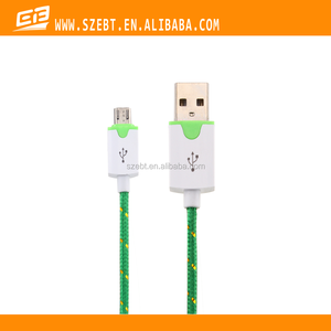New High quality generic fabric micro v8 usb charging cable