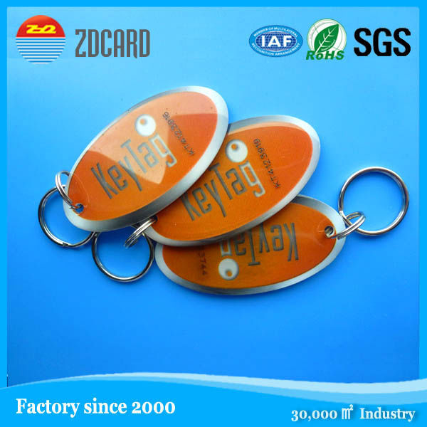 Writable waterproof 125khz ABS T5577 rfid keyfob
