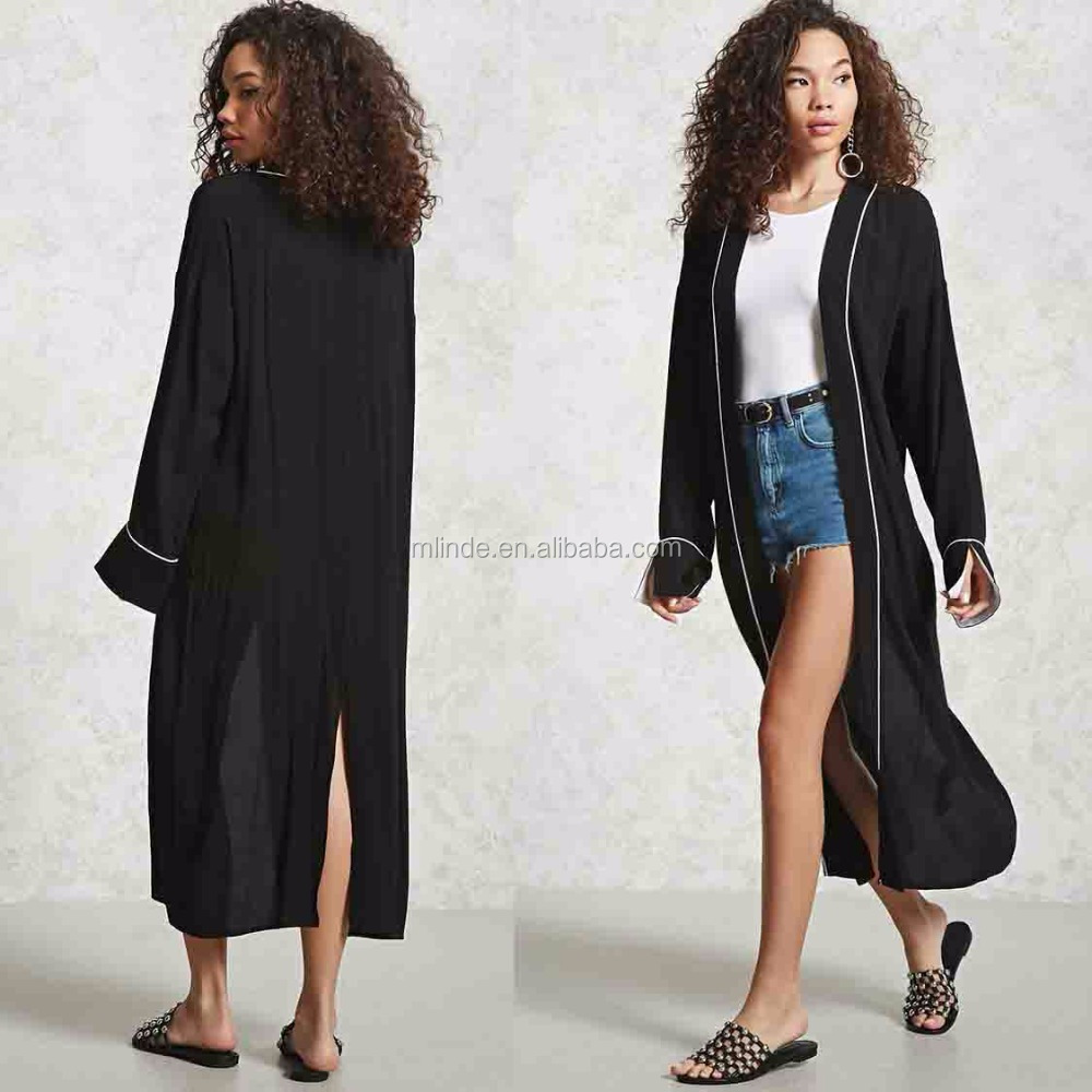 Muslim Long Cardigan Contemporary Longline Kimono Cardigan ...
