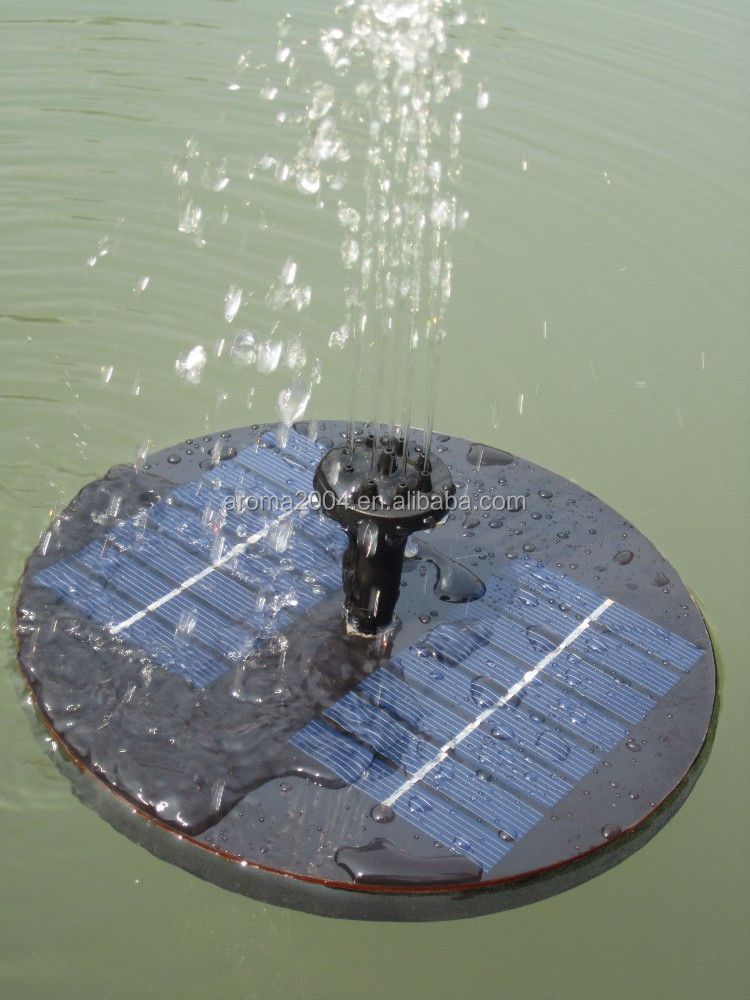 Floating Solar Fountain Pump for Birdbath Fountain, Pool Garden solar water pump system