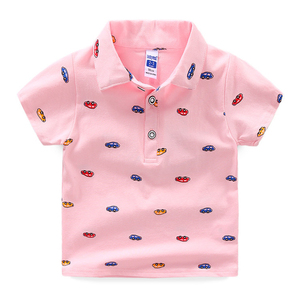 High Quality Kids Boys Polo Shirt Baby Boy Clothes Summer Short Sleeve Cotton Full Print Polo Neck Tshirt(A956)