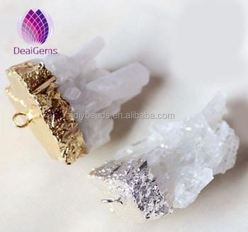 Natural rough rock crystal quartz geode druzy pendant buy natural natural rough rock crystal quartz geode druzy pendant aloadofball Images