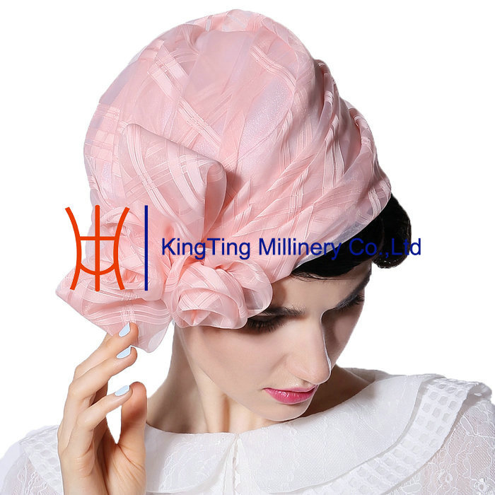 100% Organza Wedding Hats ODM Women Hats Sale Accept Small Order