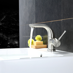 Basin Vessel Sink Brushed Nickel faucet Basin Mixer Faucet Tap