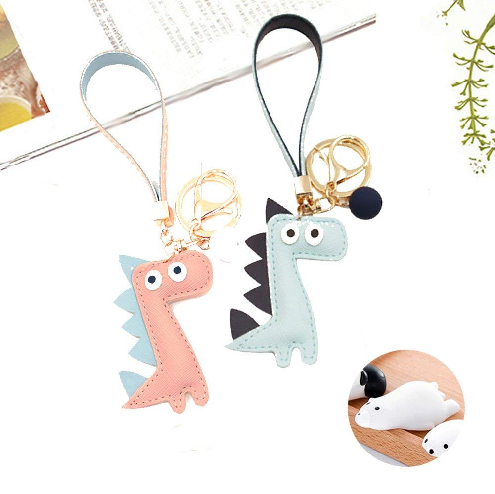 Get Quotations · Cute Key Chain Ring Handbag Leather Dinosaur Bag  Accessories Pendant Fashion for Woman Girls Item Gift 3476348852c7