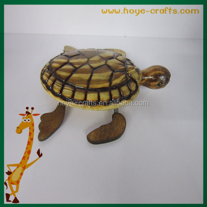 2017 new items wooden toy turtle for kids