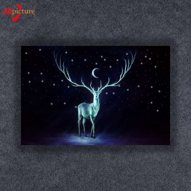 2019 Handmade modern abstract painting wall mounted deer oil painting on canvas