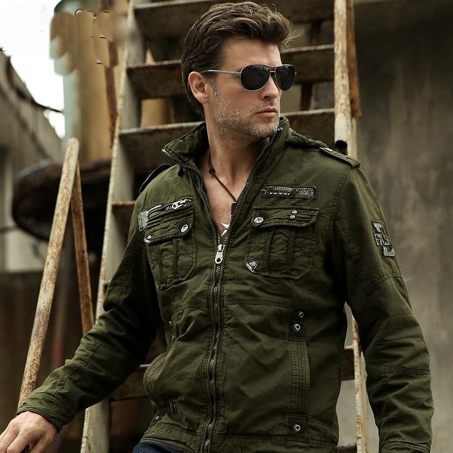Mens Military Style Winter Coats Coat Nj