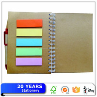 Creative Design Kraft Paper Notebook With Sticky Notes And Pen
