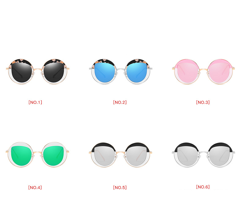 New arrived Korean Shades Women Fashion Glasses UV400 Protect Metal Frame Sunglasses PA850