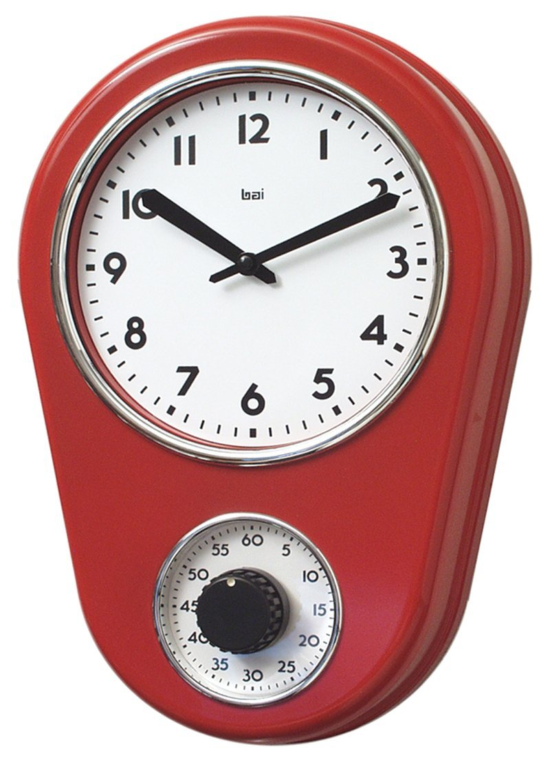 Attirant Get Quotations · Bai Retro Kitchen Timer Wall Clock, Red