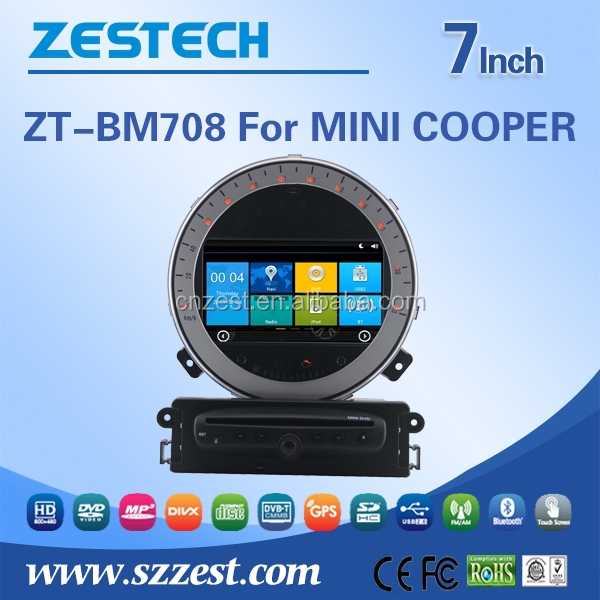 A8 Chipset wince 6.0 system double din Car dvd support AM/FM CANBUS ATV Car Video Player for BMW MINI COOPER