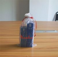 sky blue fabric gift bag for accessories packaging