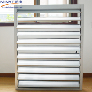 High quality competitive price aluminum louver windows hurricane roller shutters exterior windows