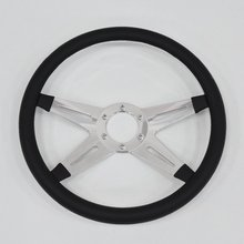 "China 14"" aluminum Billet Steering Wheel Half Wrap for Ford and Galaxie"