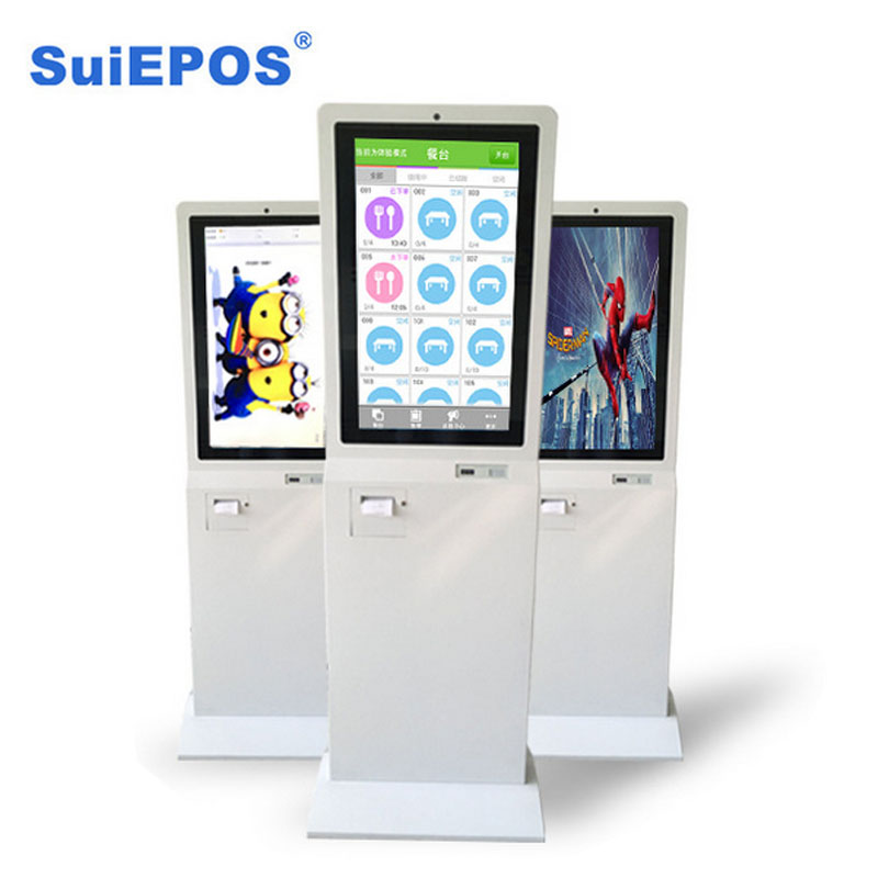 24 inch self service information pos ordering kiosk terminal black