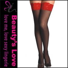 Amazon Supplier Sexy Stocking Lace Fabric Tights Sexy Lace Up Glossy Stocking
