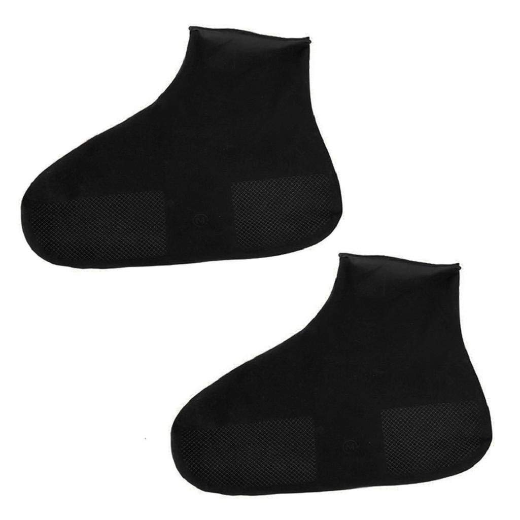 Fits Mens Shoe Size 11-12.5 Paws Heavy Duty Stretch Rubber Overshoes Shoe Protector with Traction Sole for Stripping Floors Size XL
