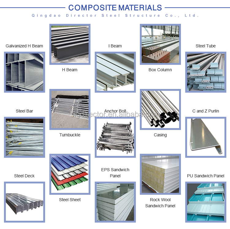 Low Cost Price Prefabricated Metal Light Steel Structure Construction Building Materials