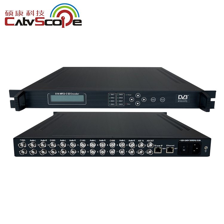 4/8/16 way MPEG-2 SD encoder CSP-1828 AV in ASI out