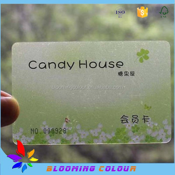 Factory Clear Plastic Business Card Fashion Design Price Pvc Calling