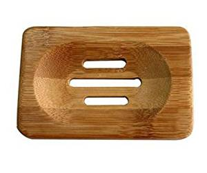 Homespun Bamboo Wooden Soap Dishes 11.6 x 8 x 1.3 Cm Set Of 2 Piece Tray Holder Storage Rack Plate Box Container Bath Shower Plate Bathroom