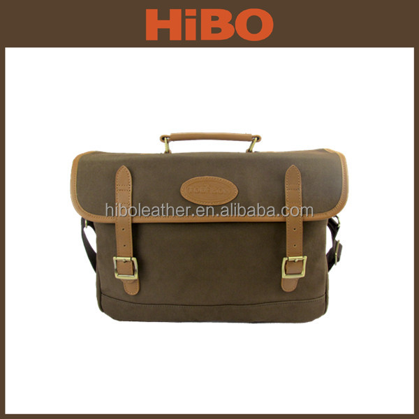 OEM manufacturer classic style satchel bag men's shoulder canvas messenger bag