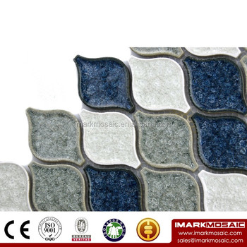 Imark Arabesque Lantern Pattern Le Glazed Ceramic Mosaic Tile Backsplash For Homdepot