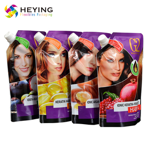 custom print aluminum foil poly mylar heat press seal bag reusable shampoo spout packaging pouch
