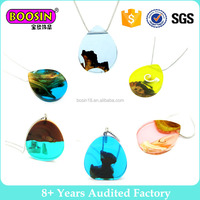 Unique transparent epoxy resin natural wood jewelry pendant necklace 5pcs for sale # 904