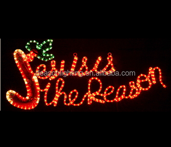 Jesus is the reason led rope light sign buy jesus and mary rope jesus is the reason led rope light sign aloadofball Images