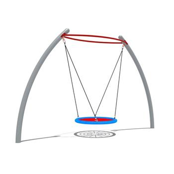 outdoor metal swing frame set rope hanging seat saucer swing - Metal Swing Frame