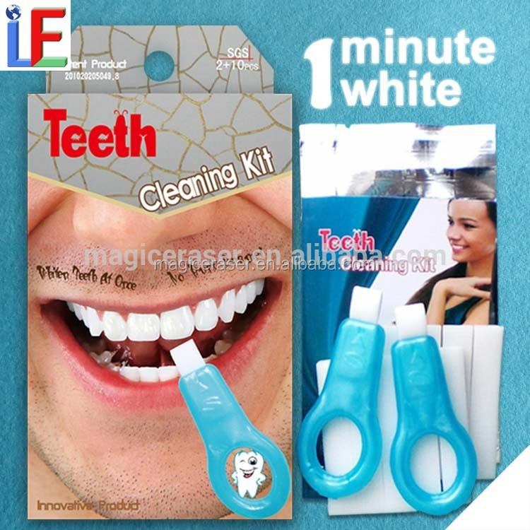 2017 Popular food grade teeth whitening home kit, staining teeth cleaning kit, Dental Stain Remover