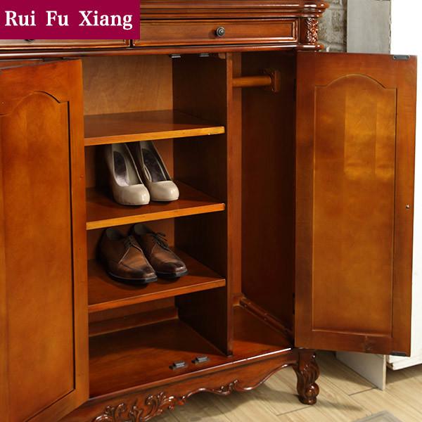 Pasillo al 207 zapatero muebles de madera con talla hecha - Muebles para pasillo ...