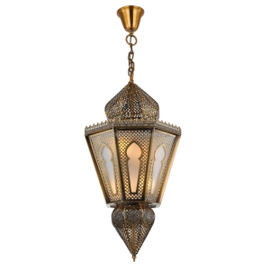 Decorative Color Arabic Hanging Handmade Gold antique brass Moroccan Pendant Lamp