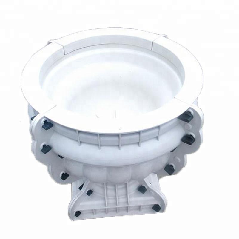 latest plastic concrete flower pot mould for sale