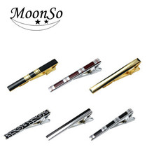 Wholesale high quality copper lacquer enamel design tie clips for man AC5647L MOONSO