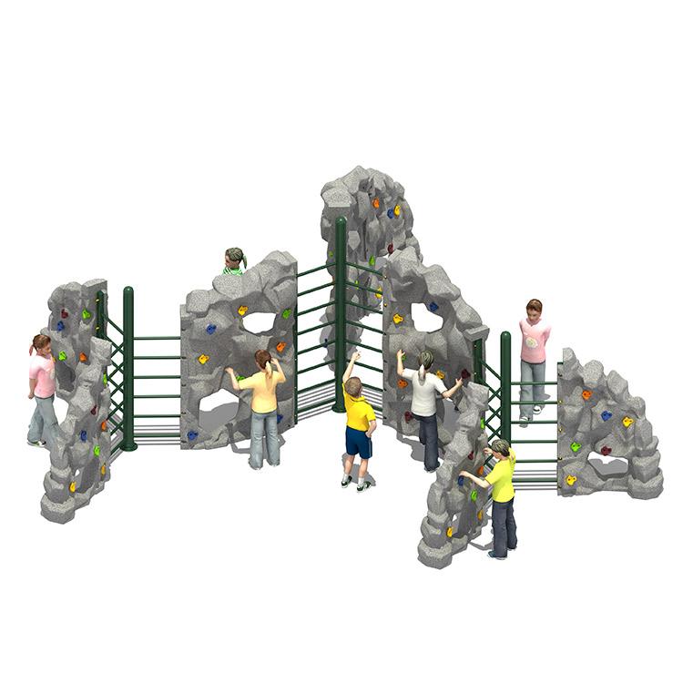 All'aperto per bambini di plastica di Rotazione di Arrampicata Su Roccia Detiene Da Parete