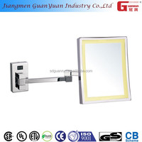 220v popular zinc alloy square bathroom walmart lighted makeup mirror