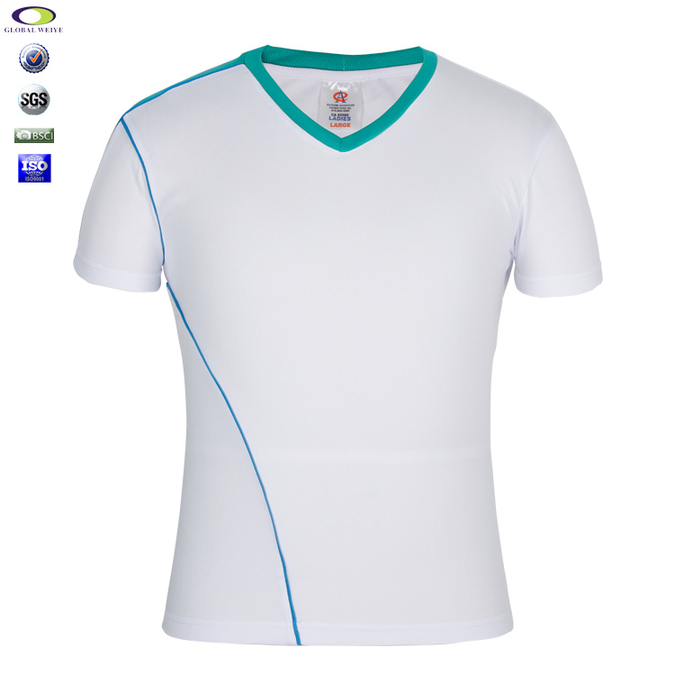 Custom Stylish Blank White Plain T Shirt Below $1 Polyester Wholesale