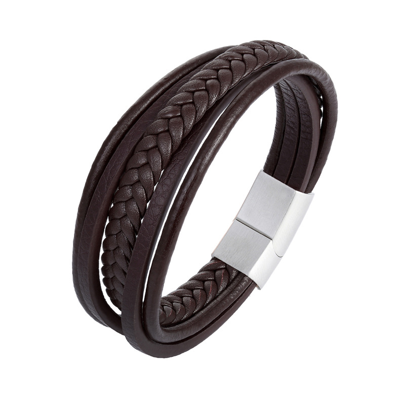 2019 New Products Handmade Genuine Leather Bracelet men