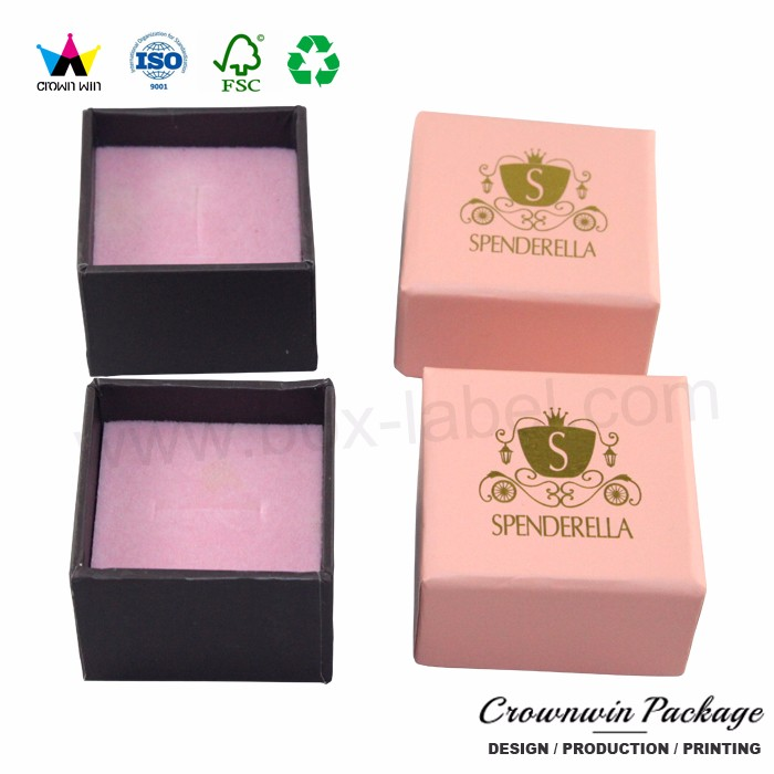Crownwin fancy luxury cardboard jewelry foam box