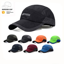 Custom Yiwu Running Cap Outdoor Quick Dry Sport Cap soft fabric and mesh breathable baseball cap