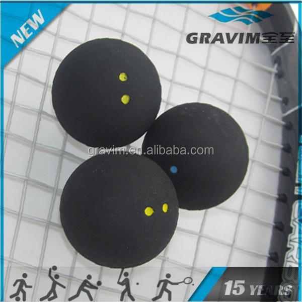 Baosity 3Pcs Squash Balls Single Blue Dot Rubber for Practice Training Gym Provides Outstanding Performance and Great Value for Club Play